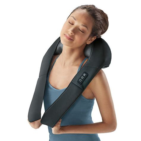 brookstone shiatsu chair massager shiatsu neck back massager with heat products i
