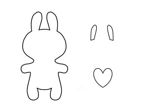 Felt Plushie Templates by Diy Felt Bunny Plushie How To Make A Felt Plushie Bunny