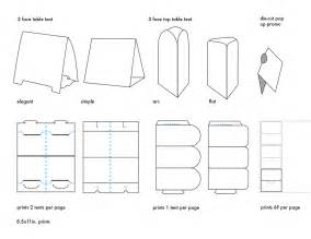 Free Printable Table Tent Template