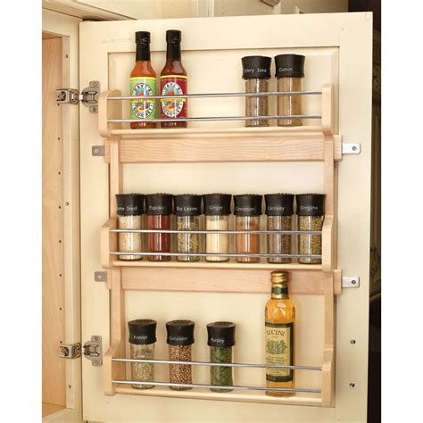 spice rack organizer for cabinet shop rev a shelf wood in cabinet spice rack at lowes com