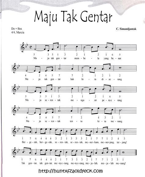 lirik lagu mengheningkan cipta dan notasinya partitur lagu wajib dan nasional