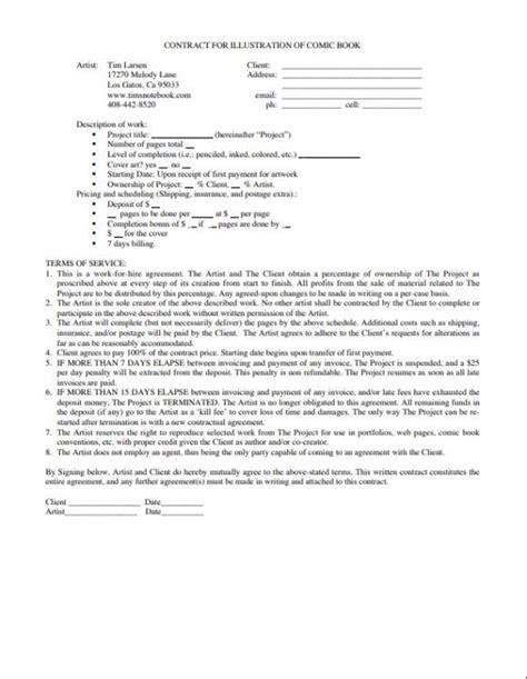 work  hire agreement illustrator work  hire