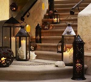 Laterne Kerze Draußen : treppen au en beleuchten kerzen laternen muscheln garden ~ Watch28wear.com Haus und Dekorationen