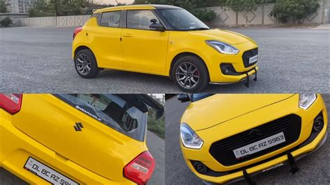 Maruti Suzuki Swift Modified With Yellow And Carbon Fibre ...