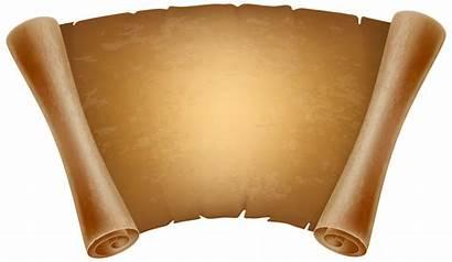 Papyrus Paper Clipart Clip Transparent Decorative Brown