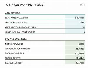 Amortization Calculator With Balloon Payment Balloon Loan Payment Calculator