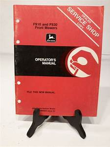 John Deere F910 F930 Front Mower Operators Manual Owners