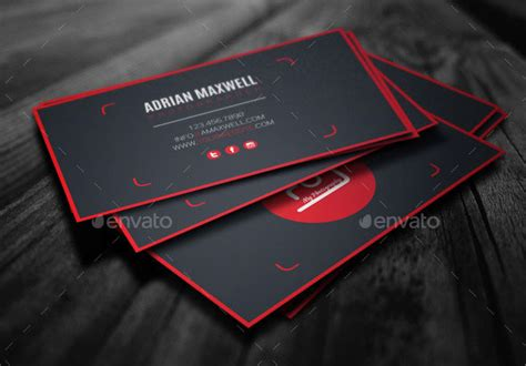 modern photography business card design templates