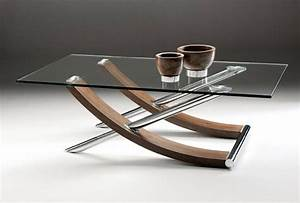 Glass top coffee table curved glass top rectangular for Circular glass top coffee table