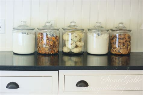 Canisters For Kitchen Counter by Canisters On Parade Stonegable