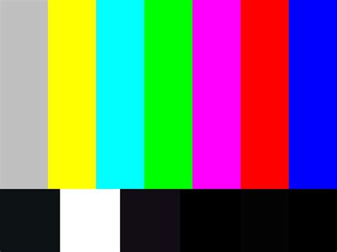 colors channel color bar generator television monitor test pattern