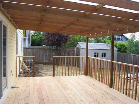 Porch Covering Options by Deck Cover Ideas Homesfeed