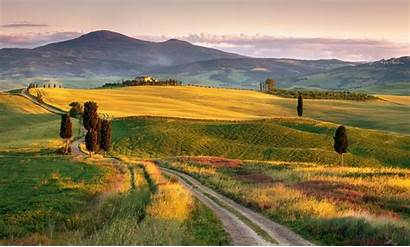 Italy Tuscany Landscape Wallpapers Field Nature Desktop