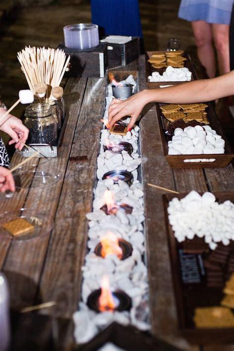 smore bar wedding food station ideas roses