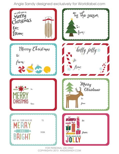 240 best christmas labels and christmas label templates