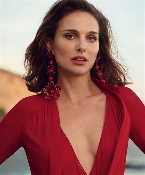 Natalie Portman Red Fashion Photoshoot Porter Cover
