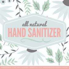 hand sanitizer label template labels