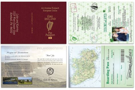 passport  ireland custom passport invitations