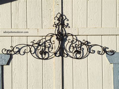 wrought iron hanging ls large tuscan wrought iron metal wall decor rustic antique