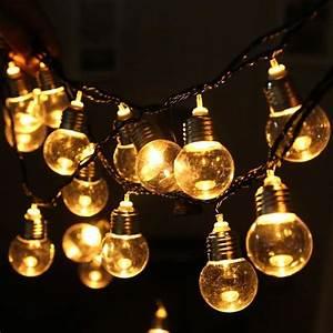 Guirlande Lumineuse Ampoule : 220v 20 led ampoule boule de lumi re guirlande de lumi res pour la chambre de no l mariage party ~ Teatrodelosmanantiales.com Idées de Décoration