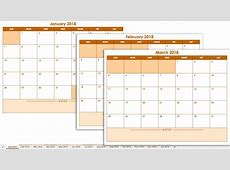Free Excel Calendar 2018 Template Templates Station