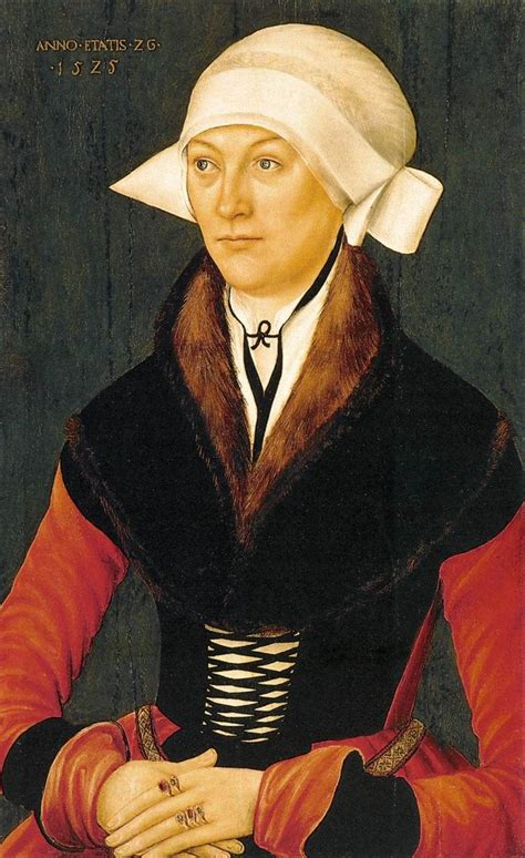Portrait Of A Woman 1525 By An Unknown German Master