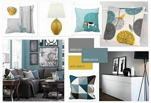 Grey, Teal & Ochre scheme for a family living room HOME