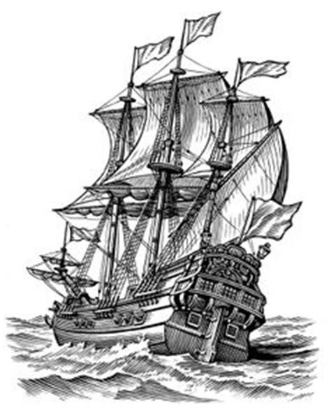 old time sailing ship clip art | Vintage old Ships illustration. — Stock Vector © VladisChern
