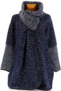manteau cape bouillie hiver grande taille bleu marine violetta