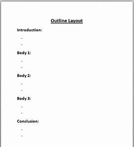 Pre writing the writing process for Prewriting outline template