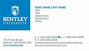 Stationery and business cards bentley university for University business cards