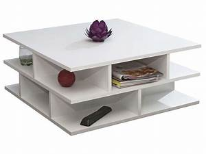 Table Basse Carrée Blanche : table basse carr e 70 cm multi coloris blanc vente de table basse conforama ~ Teatrodelosmanantiales.com Idées de Décoration