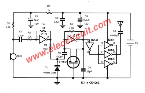 Transmitter Circuit Without Coil Eleccircuit