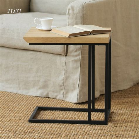 sofa side tables living room retro small living room coffee table wrought iron wood