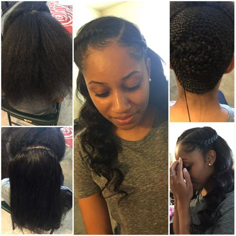 Half Sew In Hairstyles by Partial Sew In Homecoming Hairstyles In 2019 Hair