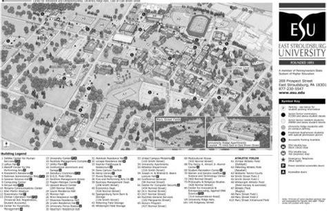 east stroudsburg university campus map