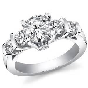 fb moissanite 5 suprise engagement ring moissaniteco - Engagement Ring For Sale