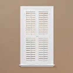 homebasics plantation faux wood white interior shutter