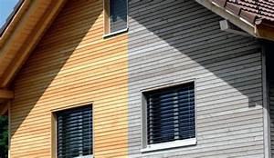 Bardage Façade Maison : bardage en bois effet neuf ou patin c t maison ~ Nature-et-papiers.com Idées de Décoration