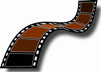 Sepia Film Strip Clker Clip Vector
