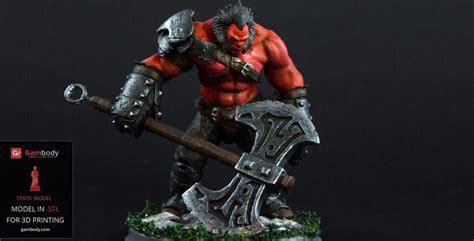 Dota 2 Axe 3D Printing Files for Download - 3D Printer