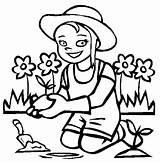 Coloring Planting Gardening Drawing Flower Flowers Colour Fairy Colouring Sheets Printable Getdrawings Popular Illustration Coloringhome Disimpan Dari sketch template