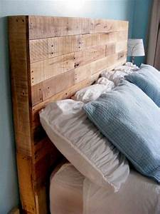 Diy Reclaimed Wooden Pallet Headboard