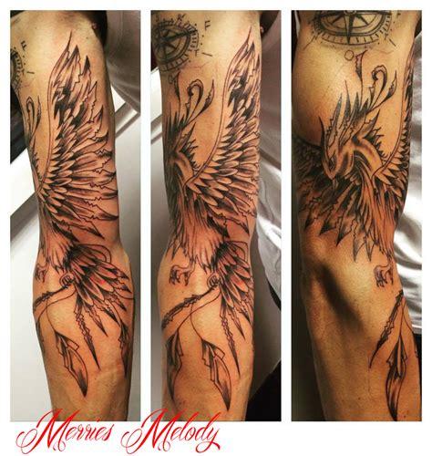 tatouage phoenix japonais bras