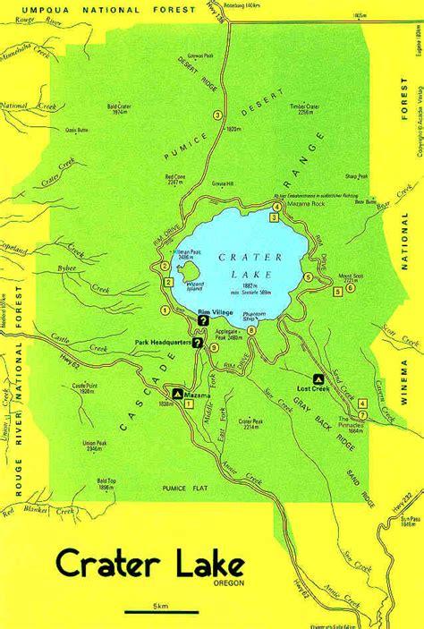 Photos Of Crater Lake Oregon Karte Crater Lake Nationalpark Oregon