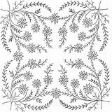 Coloring Pages Flowers Embroidery Patterns Adult Flower Pattern Floral Printable Adults Colorpagesformom Designs Border Works Hand Coupons Broderie Dessins Corner sketch template