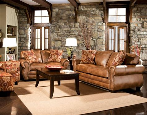 Light Brown Leather Sofa Living Room Ideas by Rustic Dim Brown Leather Sofas Fantastic Expense For Warm