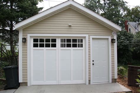 one car garage affordable detached garage builder single car garages