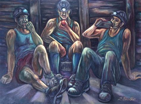 Coal Mining Art By Derek Slater, Whose Latest Exhibition