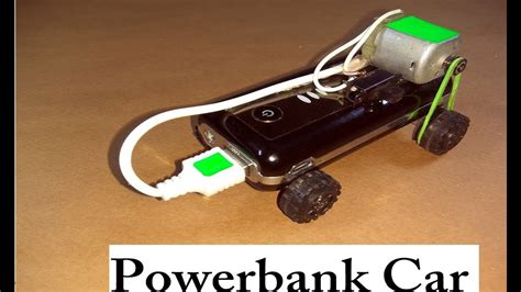 Make Electric Car by How To Make A Car At Home Using Powerbank Diy Electric